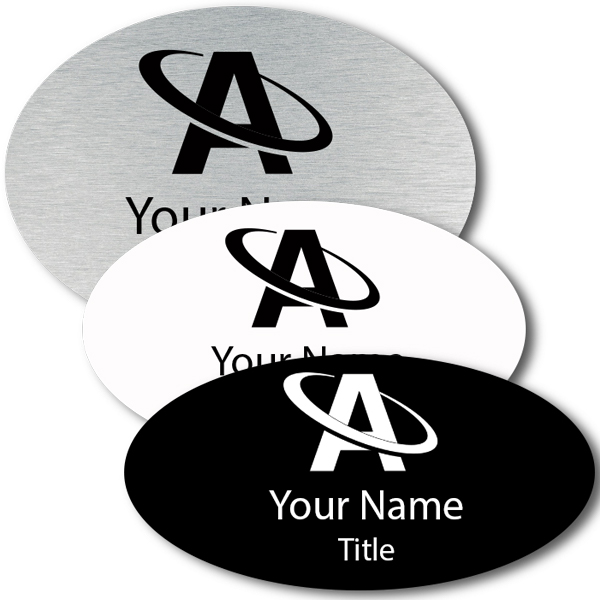 Lasered Oval Name Tag