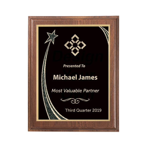 Most Valuable Person Rising Star Walnut Plaque