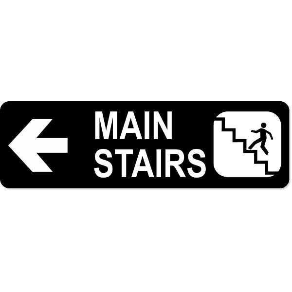 Stairs Left Sign