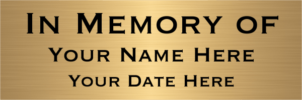 In Memory Brass Sign