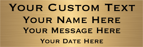 Custom Four Line Brass Sign