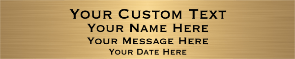 Custom Four Line Brass Plaque