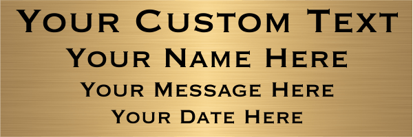 Extra Large 4 Line Custom Brass Sign