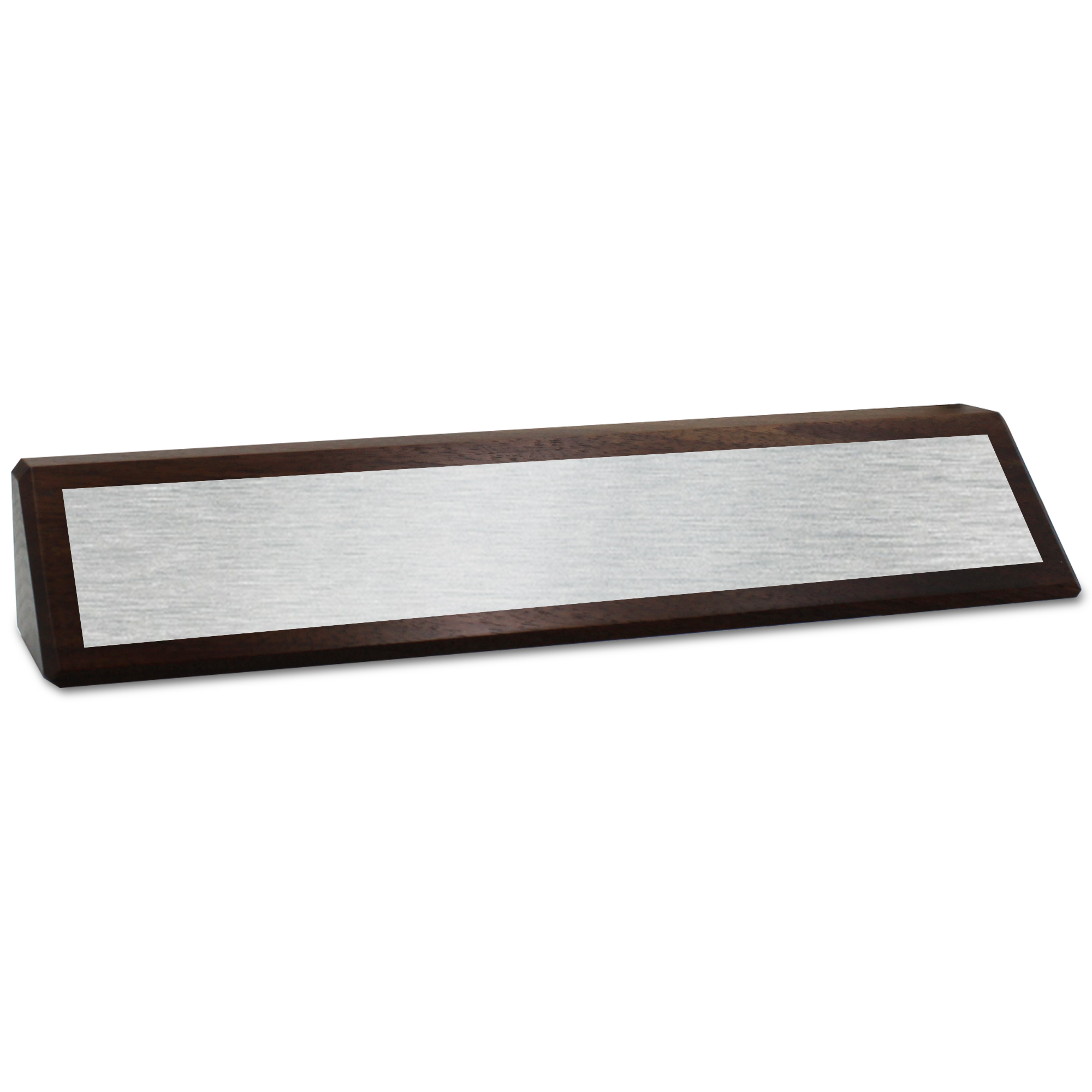 Genuine Wood Desk Wedge with Full Color Name Plate