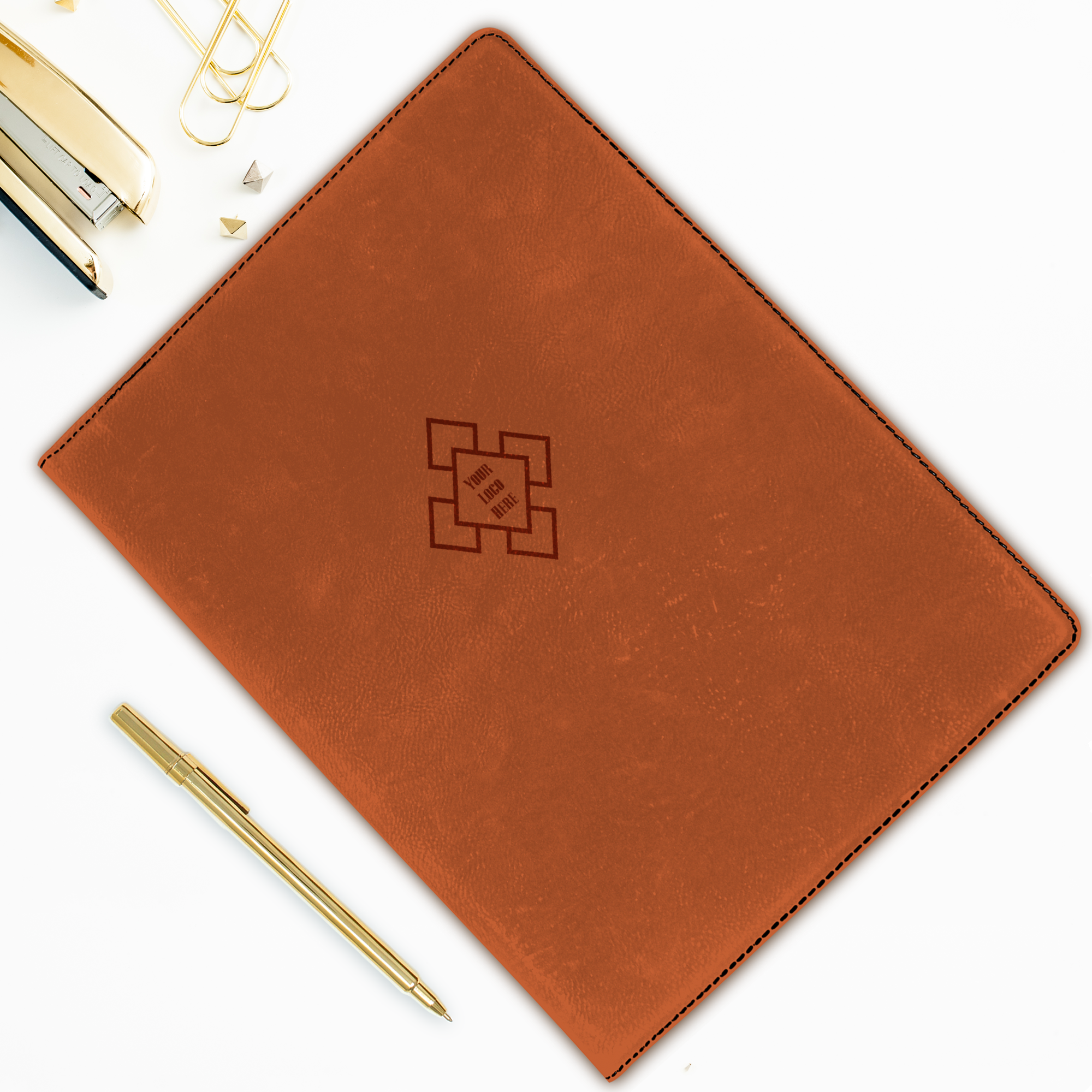Custom Logo Large Leatherette Folio