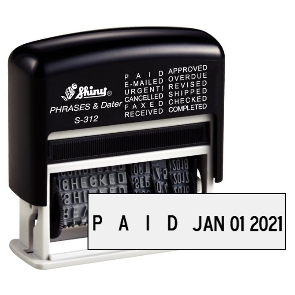 Shiny Micro Message Dater Stamp - 12 Messages