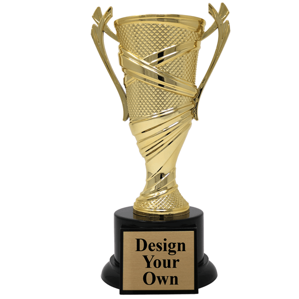 Large Textured Cup Award Trophy
