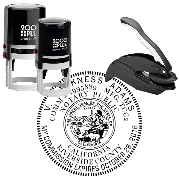 California Notary Round Design