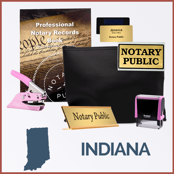 Indiana Pink Deluxe Notary Kit