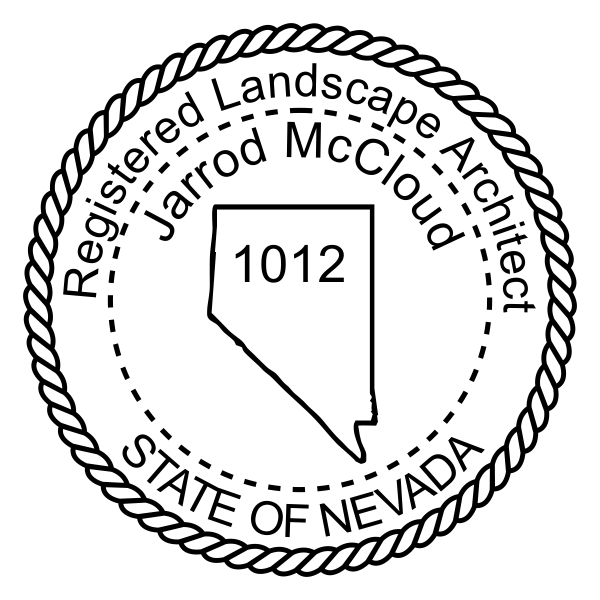 State of Nevada Landscape Architect Seal Stamp Imprint