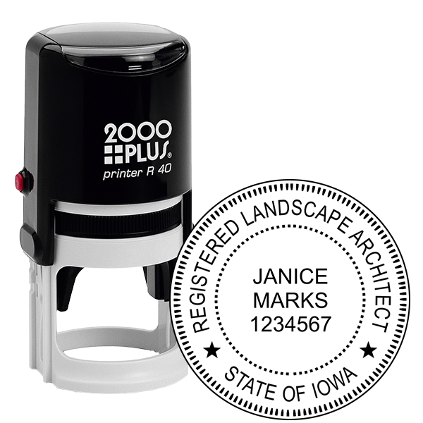 State of Iowa Landscape Architect Seal