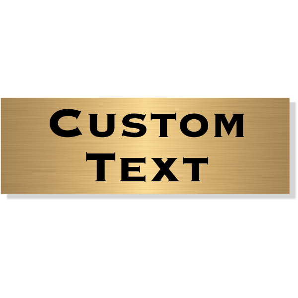 "Double Line Custom Text Brass Plate | 1"" x 3"""