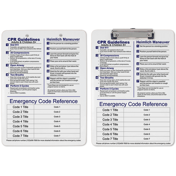Medical Reference Clipboard Double Sided