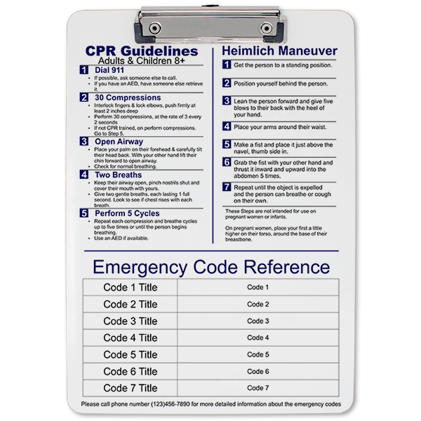 Medical Reference Clipboard Front