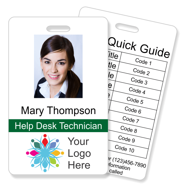 Double Sided Photo ID with Code Quick Guide