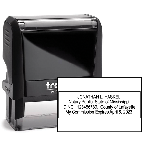 Mississippi Notary Rectangle Stamp