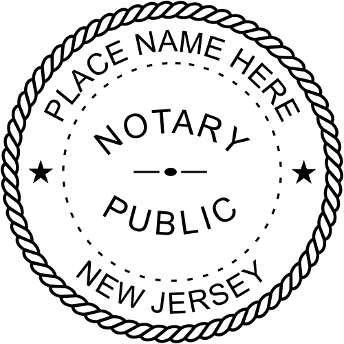 New Jersey Notary Round Imprint