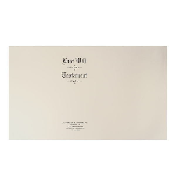 Will Covers | Letter Size | Engraved Last Will & Testament | Box of 100