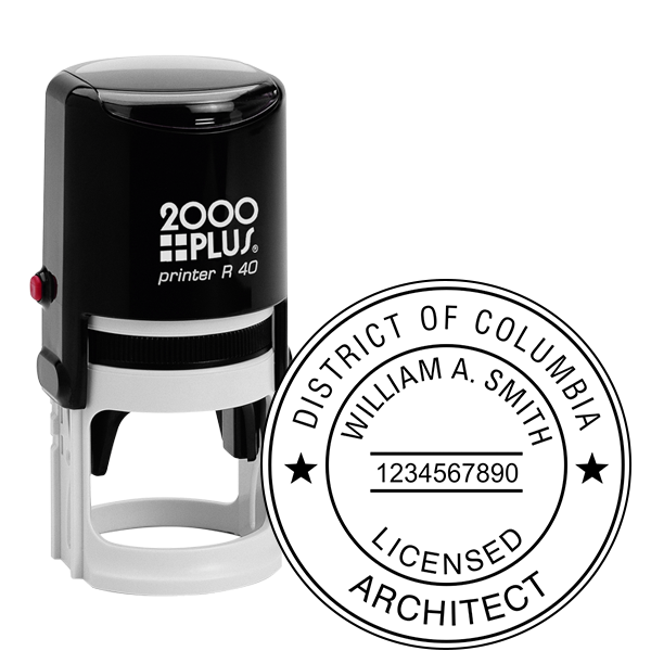 District of Columbia Architect Seal