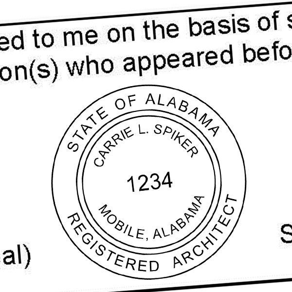 State of Alabama Architect Seal Imprint