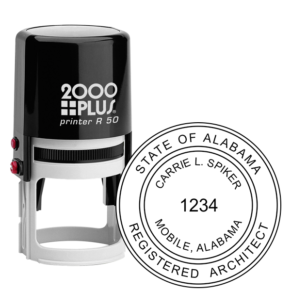 State of Alabama Architect Seal