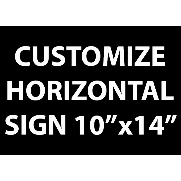 Engraved Sign Horizontal 10