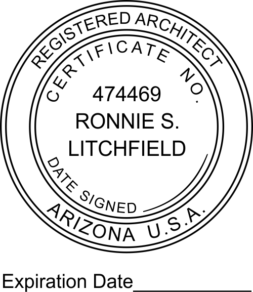 State of Arizona Architect with Expiration