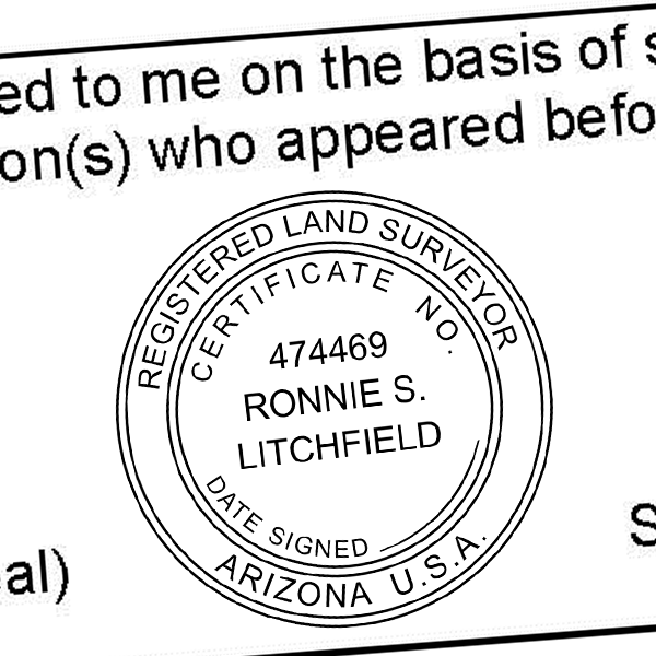 State of Arizona Land Surveyor Seal Imprint