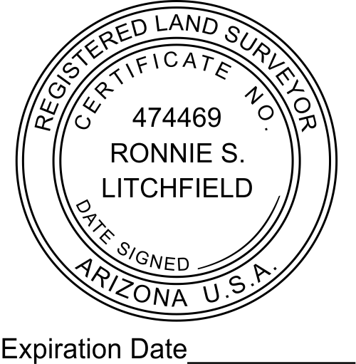 State of Arizona Land Surveyor with Expiration
