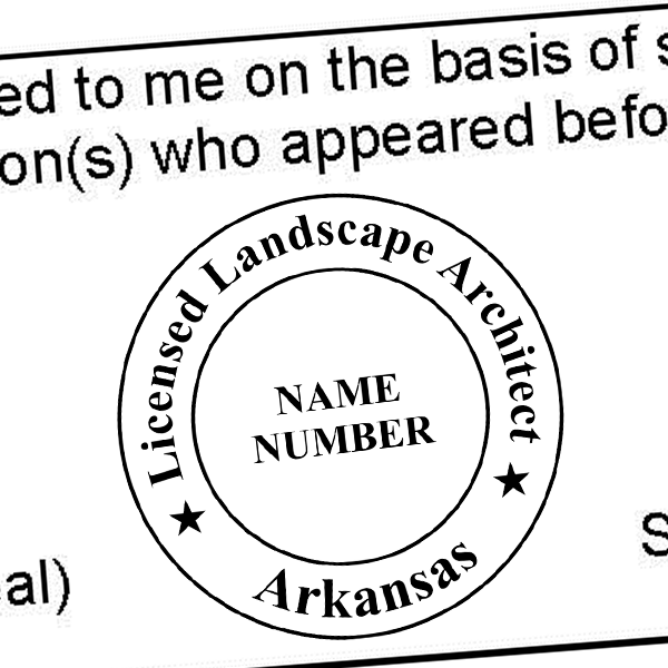 State of Arkansas Landscape Architect Seal Imprint