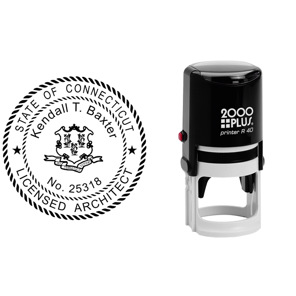 State of Connecticut Architect Seal Body and Imprint