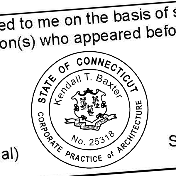 State of Connecticut Corporate Architect Seal Imprint