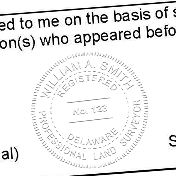 State of Delaware Land Surveyor Seal Imprint