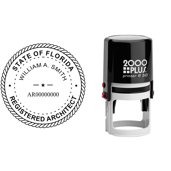 State of Florida Architect Seal Body and Imprint