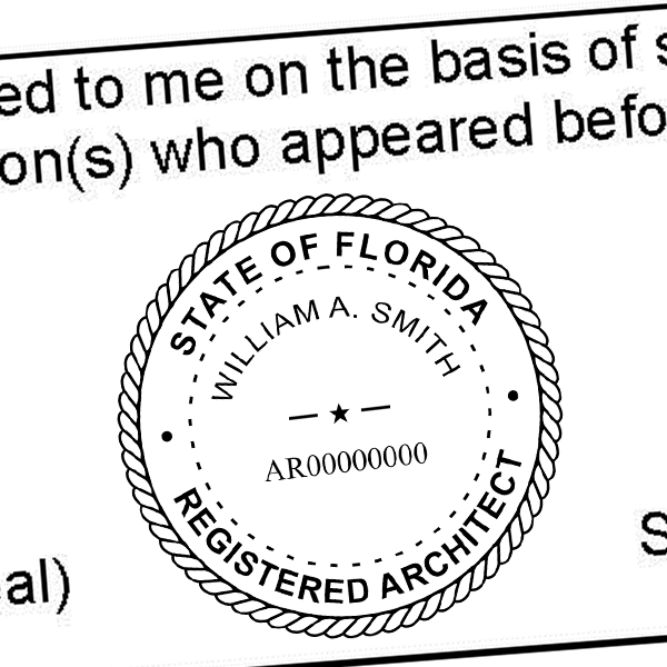 State of Florida Architect Seal Imprint