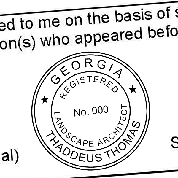 State of Georgia Landscape Architect Seal Imprint