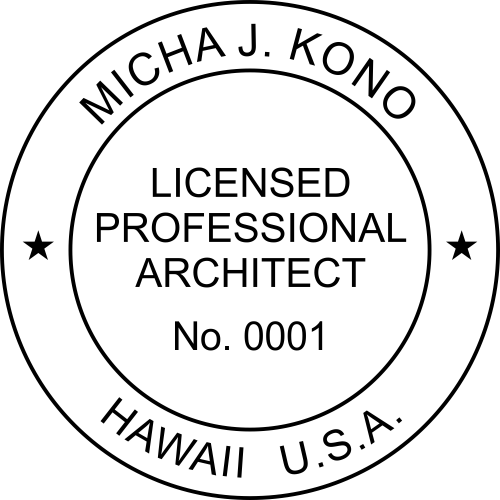 State of Hawaii Architect