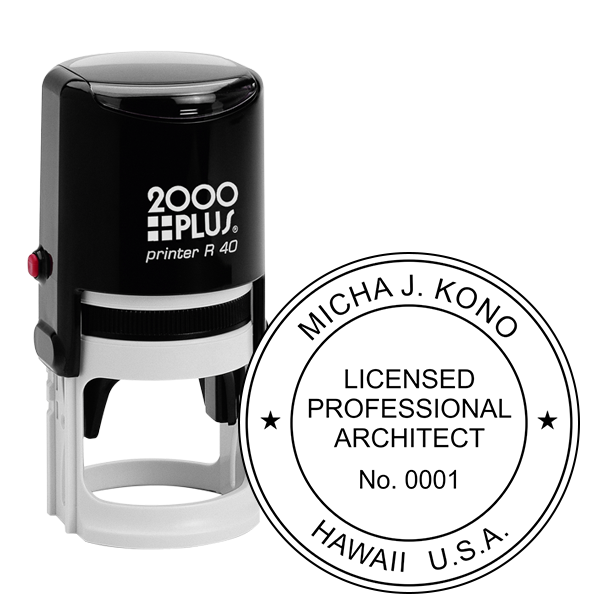 State of Hawaii Architect Seal