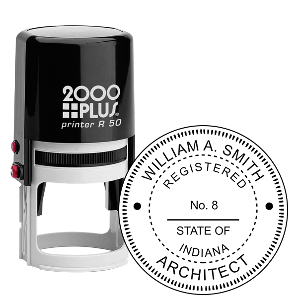 State of Indiana Architect Seal