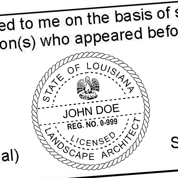 State of Louisiana Landscape Architect Seal Imprint