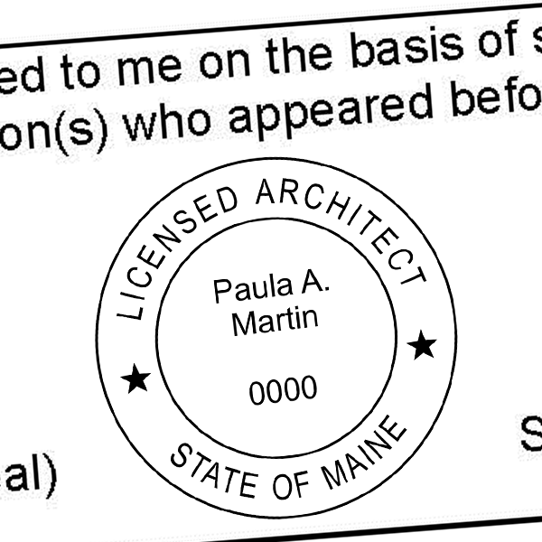 State of Maine Architect Stamp Seal Imprint