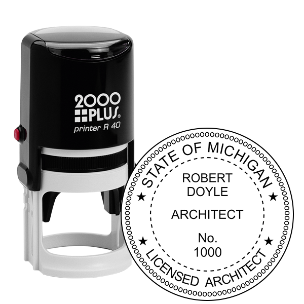 State of Michigan Architect Seal