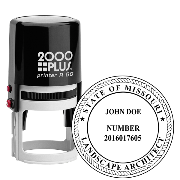 State of Missouri Landscape Architect Seal