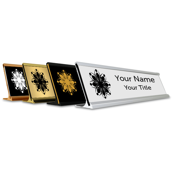 """Traditional 2"""" x 12"""" Desk Nameplate - Engraved"""