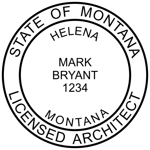 State of Montana Architect Solid Border