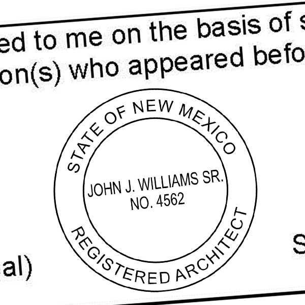 State of New Mexico Architect Seal Imprint