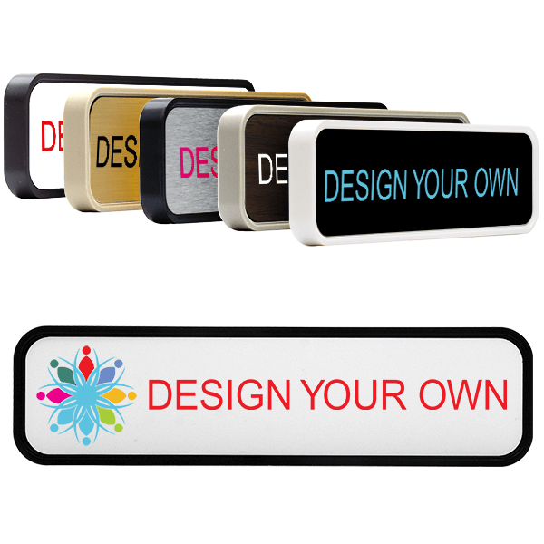 2x8 Plastic Rounded Corner Wall Sign with Color Insert (9128)