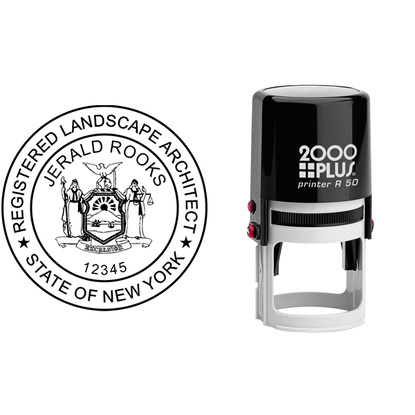 State of New York Landscape Architect Seal Body and Imprint