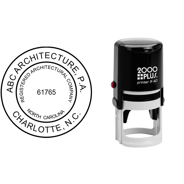 State of North Carolina Architectural Firm Seal Body and Imprint