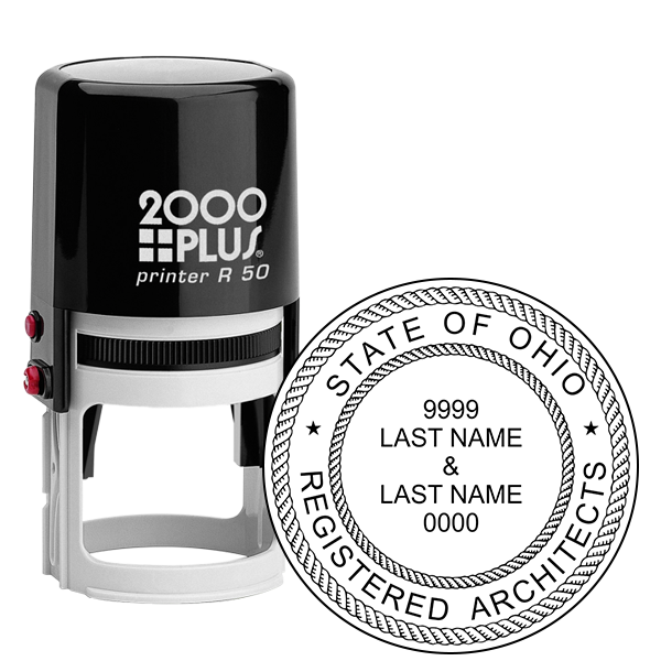 State of Ohio Architect Seal - Two Names